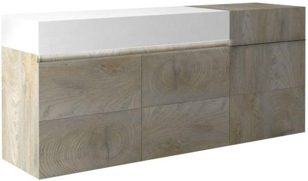 Brio 3 door 1 drawer sideboard