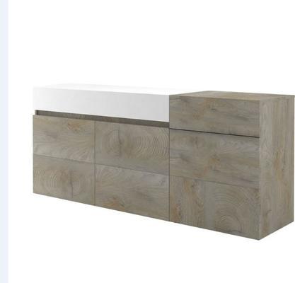 Brio 3 door 1 drawer sideboard image 3