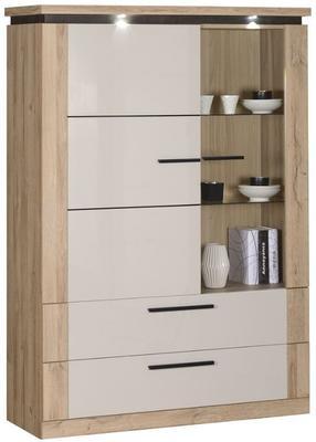 Oslo 2 door 2 drawer display unit