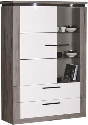 Oslo 2 door 2 drawer display unit image 2