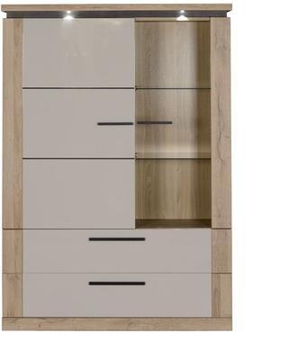 Oslo 2 door 2 drawer display unit image 3