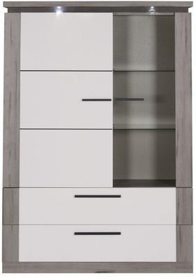 Oslo 2 door 2 drawer display unit image 4