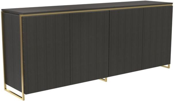 Federico Four Door Sideboard Black Wood