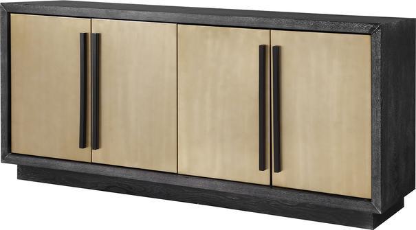 Camden Ebony and Brass Sideboard