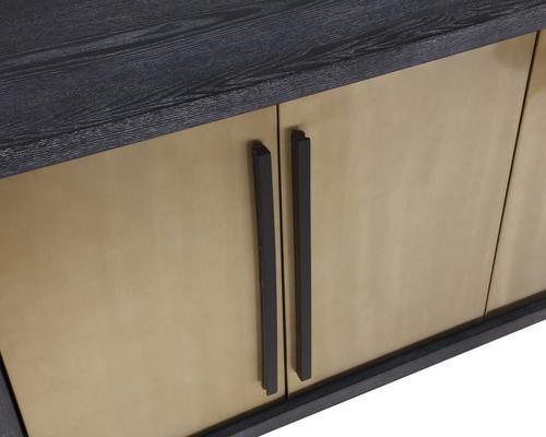 Camden Ebony and Brass Sideboard image 4