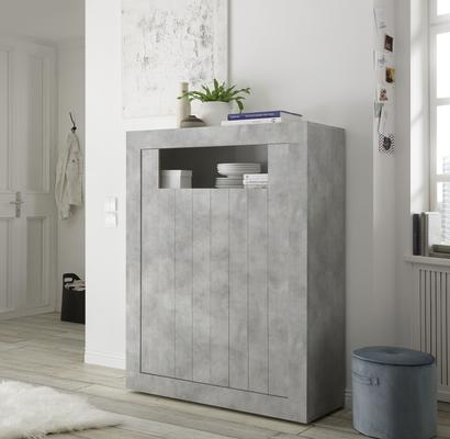 Como Two Door Highboard - Grey Finish