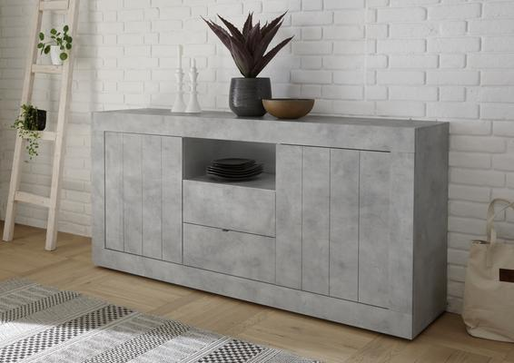 Como Two Door/Two Drawer Sideboard - Grey Finish