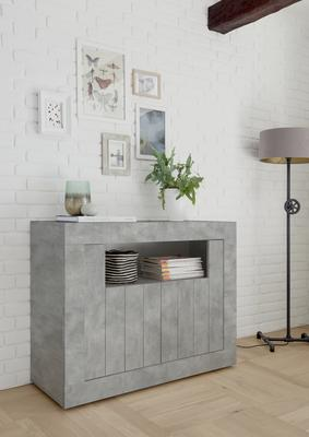 Como Two Door Sideboard - Grey Finish