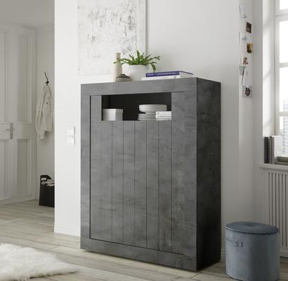 Como Two Door Highboard - Anthracite Finish