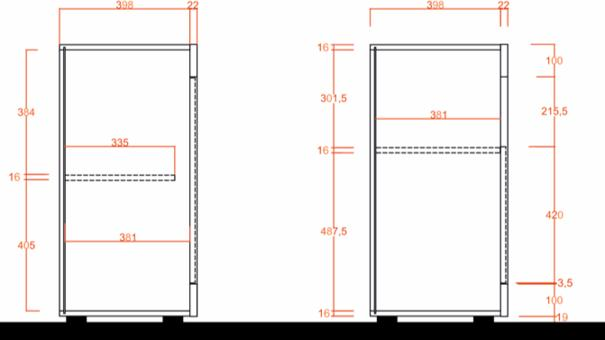 Como Three Door Sideboard - White Gloss and White Pine Finish image 3