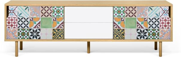 Dann (tiles) 2 door 2 drawer sideboard