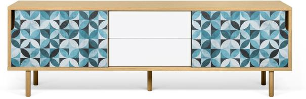 Dann (tiles) 2 door 2 drawer sideboard image 2