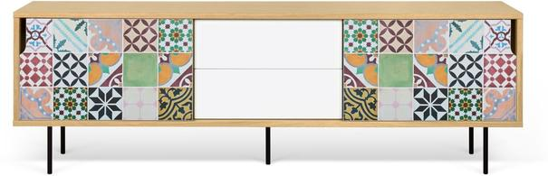 Dann (tiles) 2 door 2 drawer sideboard image 4