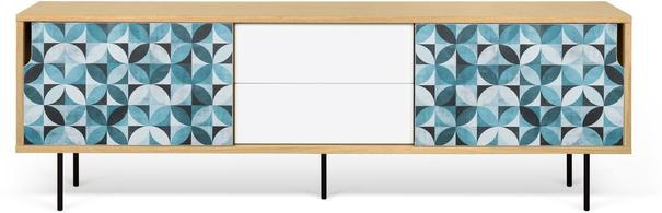 Dann (tiles) 2 door 2 drawer sideboard image 5