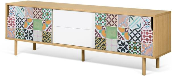 Dann (tiles) 2 door 2 drawer sideboard image 7