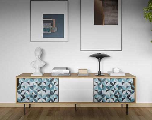 Dann (tiles) 2 door 2 drawer sideboard image 15