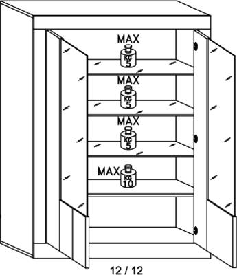 Como Two Door Display Vitrine Inc. LED Spotlight - White Gloss and White Pine Finish image 5