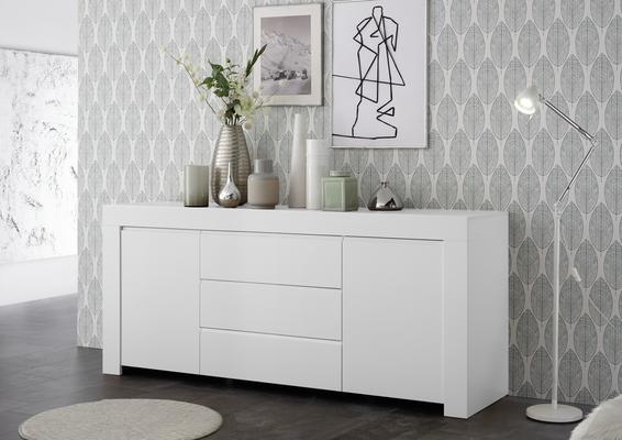 Bergamo Collection Two Door/Three Drawer Sideboard - Matt White