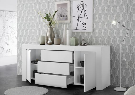 Bergamo Collection Two Door/Three Drawer Sideboard - Matt White  image 3