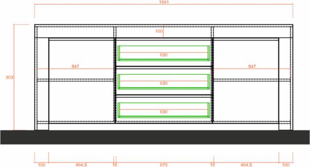 Bergamo Collection Two Door/Three Drawer Sideboard - Matt White  image 4