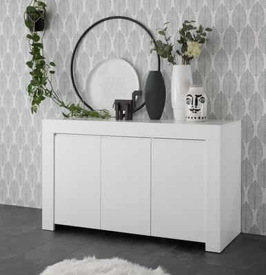 Bergamo Collection Three Door Sideboard - Matt White