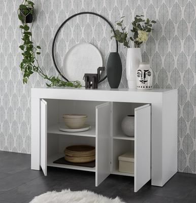 Bergamo Collection Three Door Sideboard - Matt White  image 2