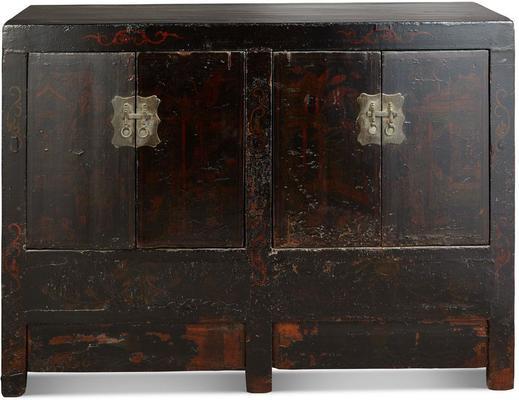 Antique Shanxi Double Cabinet Black Lacquer image 2