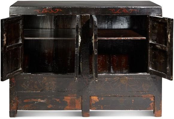 Antique Shanxi Double Cabinet Black Lacquer image 3
