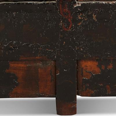 Antique Shanxi Double Cabinet Black Lacquer image 4