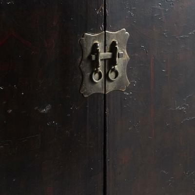 Antique Shanxi Double Cabinet Black Lacquer image 5