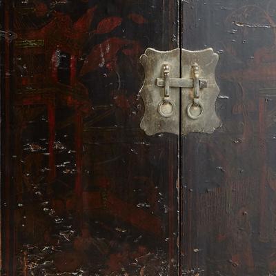 Antique Shanxi Double Cabinet Black Lacquer image 6