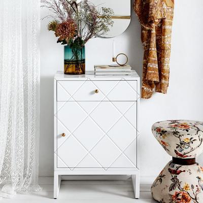 Diamond Pattern Small Cabinet