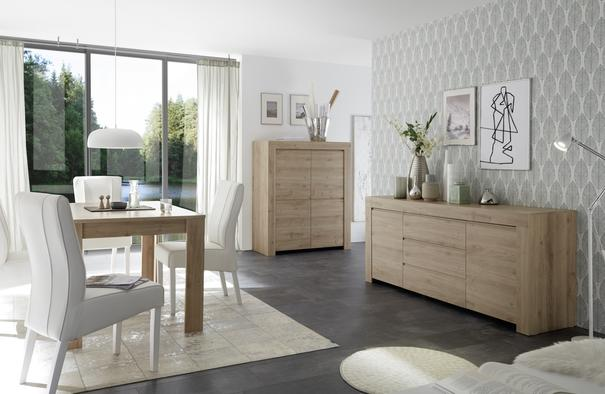 Bergamo Collection Four Door Sideboard -  Kadiz Oak Finish image 3