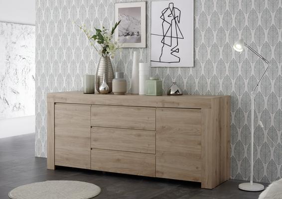 Bergamo Collection Two Door/Three Drawer Sideboard - Kadiz Oak Finish