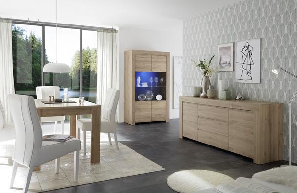 Bergamo Collection Two Door/Three Drawer Sideboard - Kadiz Oak Finish image 3