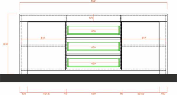 Bergamo Collection Two Door/Three Drawer Sideboard - Kadiz Oak Finish image 5