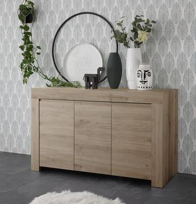 Bergamo Collection Three Door Sideboard - Kadiz Oak Finish