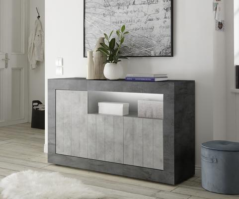 Como Three Door Sideboard - Anthracite and Grey Finish