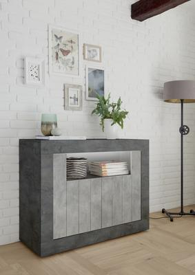 Como Two Door Sideboard - Anthracite and Grey Finish image 2