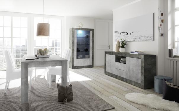Como Two Door Display Vitrine Inc. LED Spotlight  - Anthracite and Grey Finish image 2