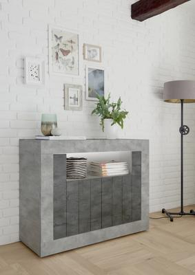 Como Two Door Sideboard - Grey and Anthracite Finish image 2