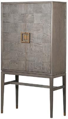 Bardon Oak Bar Drinks Cabinet