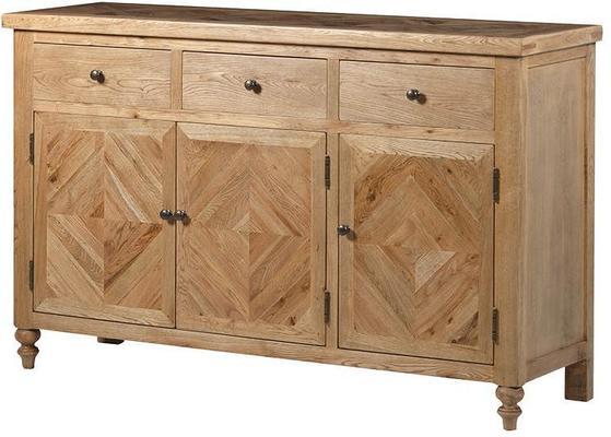 Chester Oak Parquet Three Door Sideboard
