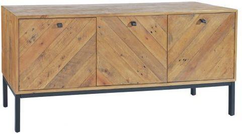 Thorpe Parquet Three Door Sideboard Reclaimed Pine