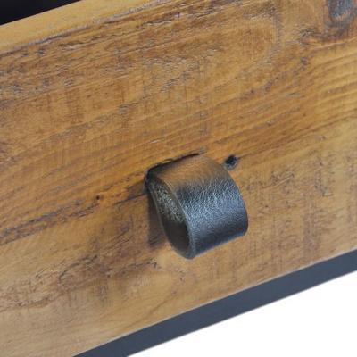 Thorpe Parquet Three Door Sideboard Reclaimed Pine image 3