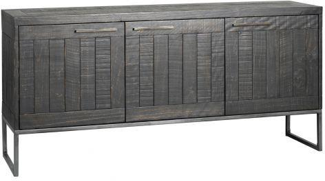 Hadley Charcoal Large Sideboard Dark Grey Pine