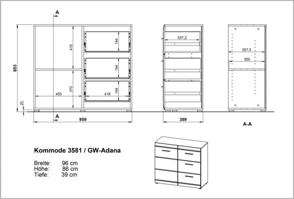 Adelle Chest of Drawers - White image 3