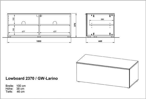 Laura Low Sideboard - White image 2