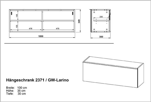 Laura Wall Cabinet ( Horizontal ) - White image 4