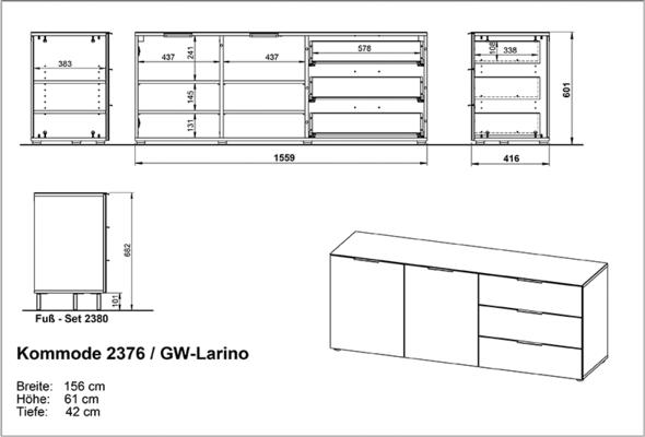 Laura Large Sideboard - WHite image 4